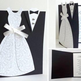 šventinė atributika - kvietimai vestuvėms, vestuvių proga